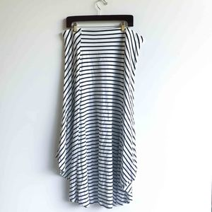 Chico's Black and White Striped Maxi Skirt NWT